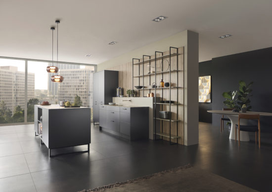 cuisine Leicht Wels Décoration façade METEA, reflet métallique